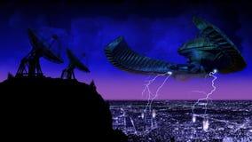 Contestación del UFO ilustración del vector