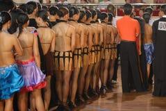 Contestant- internationale standaard de dans Nationale Open van China Nan-Tchang royalty-vrije stock foto