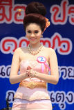 Contestant for Miss Songkran 2014 Royalty Free Stock Images