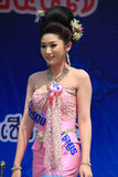 Contestant for Miss Songkran 2014 Stock Image