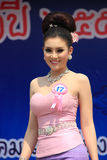 Contestant for Miss Songkran 2014 Stock Photos