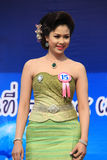 Contestant for Miss Songkran 2014. Chiangrai, Thailand - April 13, 2014: Unidentified contestant for Miss Songkran 2014 is walking on the stage for judges to Stock Photo