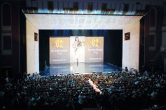Contestants Beauty of Russia 2012 on the stage Stock Photos