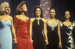 Contestants in 1994 Miss America Pageant, Atlantic City, New Jersey Royalty Free Stock Image