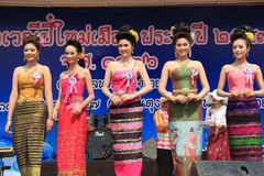Contestants for Miss Songkran 2014 Royalty Free Stock Image