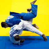 Contestants participate in the Judo World Cup Men Stock Image