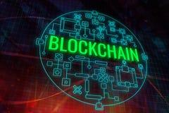 Contesto astratto del blockchain illustrazione di stock