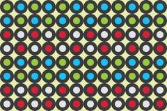Contesto astratto della carta da parati di forma del fondo del cerchio di struttura rotondo illustrazione vettoriale
