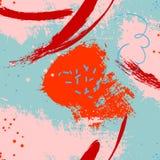 Contesto astratto della pittura di vettore Modello fatto a mano di contrasto della macchia Inchiostro blu d'avanguardia di rosso  Fotografia Stock Libera da Diritti