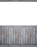 Contesto in bianco con il beadboard scuro Fotografia Stock