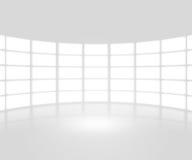 Contesto bianco della fase di manifestazione di TV Fotografia Stock Libera da Diritti