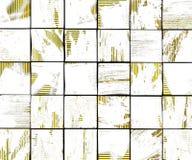 contesto bianco delle mattonelle della spazzola dei graffiti astratti 3d con giallo Immagini Stock Libere da Diritti