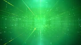 Contesto bizzarro di verde di tecnologia Fotografie Stock