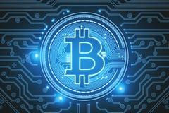 Contesto blu del bitcoin Immagini Stock Libere da Diritti