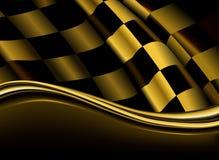 Contesto checkered dorato Immagini Stock