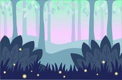 Contesto con la foresta di favola Immagini Stock