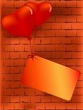 Contesto del biglietto di S. Valentino di vettore Fotografia Stock Libera da Diritti