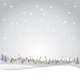 Contesto dell'annata di Natale Fotografie Stock