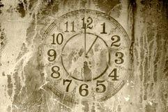 Contesto dell'orologio di lerciume Fotografie Stock Libere da Diritti