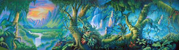 Contesto della giungla Fotografia Stock