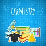 Contesto di chimica Immagini Stock Libere da Diritti