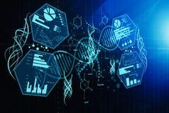 Contesto di futuro e della medicina illustrazione di stock