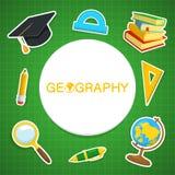 Contesto di geografia Fotografia Stock
