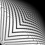 Contesto di griglia deformato monocromio di progettazione Fotografie Stock Libere da Diritti