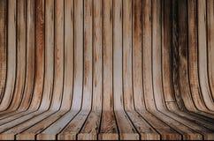 Contesto di legno del Cyclorama fotografia stock