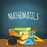 Contesto di per la matematica Fotografie Stock
