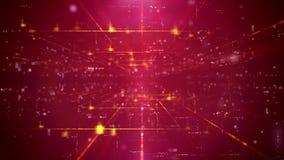 contesto di porpora del cyberscape di Ciao-tecnologia Immagine Stock
