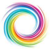 Contesto di vettore dello spettro a spirale dell'arcobaleno royalty illustrazione gratis