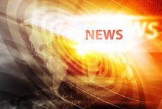 Contesto digitale moderno grafico di notizie Fotografia Stock