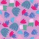 Contesto disegnato a mano contemporaneo delle macchie Forme floreali astratte illustrazione di stock