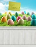 Contesto felice del fondo della primavera di Pasqua Fotografie Stock Libere da Diritti