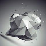 Contesto geometrico della grata dell'estratto 3D di vettore Fotografie Stock Libere da Diritti