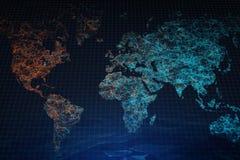 Contesto poligonale della mappa Fotografia Stock Libera da Diritti