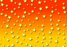 Contesto stellato in arancio Fotografia Stock