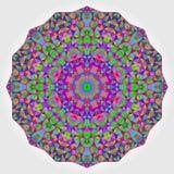 Contesto variopinto del caleidoscopio del cerchio Fiore astratto del mosaico Fotografia Stock Libera da Diritti
