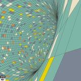 Contesto variopinto del mosaico Reticolo geometrico astratto Illustrazione di vettore illustrazione vettoriale