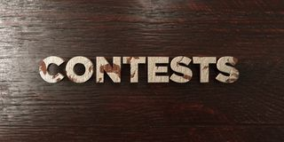 Contests - grungy wooden headline on Maple  - 3D rendered royalty free stock image Royalty Free Stock Images