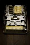 Contex Comptometer nach innen Stockfoto
