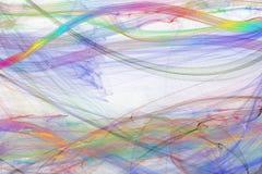 Contexte abstrait des vagues colorées sur le fond blanc Image stock