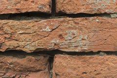 Contexte avec des briques rougeâtres Photographie stock