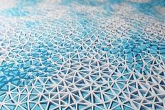 Contexte bleu de wireframe illustration stock