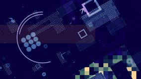 Contexte bleu et blanc innovateur de techno illustration libre de droits