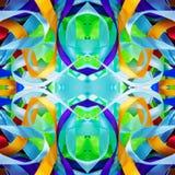 Contexte coloré en soie de rubans pour l'album, Collage avec la réflexion de miroir Configuration sans joint Photos libres de droits