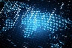 Contexte d'affaires globales et de commerce illustration stock