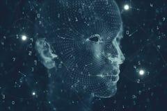 Contexte d'intelligence artificielle et d'esprit illustration de vecteur