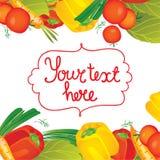 Contexte de frontières de légumes d'illustration de vecteur Images stock